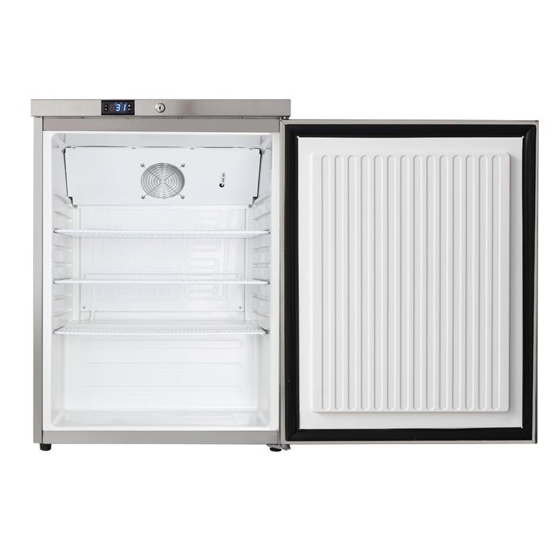 厨房嵌入式小冰箱不锈钢单门冷藏冰箱小型电冰箱 B1A HUS 哈士奇