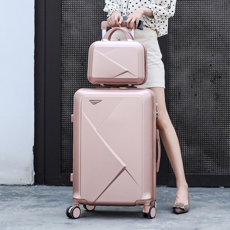 寸 24 大学生万向轮旅行箱子母箱男女潮拉杆箱 28 寸 ins20 行李箱网红
