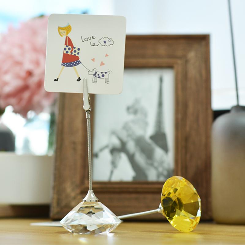 水晶钻石名片夹留言夹便条夹便签夹座摆件照片相片明信片小夹子