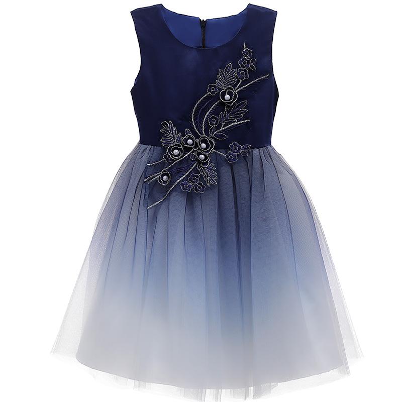 女童童装连衣裙夏装新款公主裙洋气蓬蓬纱裙韩版儿童节日表演礼服