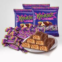 KDV俄罗斯进口紫皮糖kpokaht巧克力糖花生糖正品喜糖结婚零食糖果 (¥22)