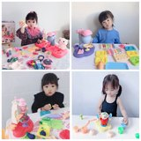 Plasticine mold tool set non-toxic color mud ultra light clay children girl ice cream pressure noodle machine toy