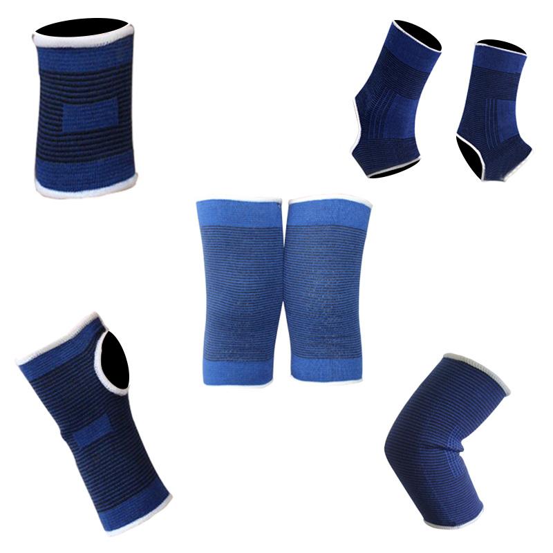 运动护膝护肘护腕脚裸护具男薄款护关节战术一套套装护脚踝全套女