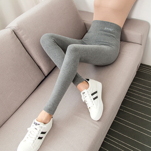 打底裤女外穿春秋冬季薄款纯棉高腰灰色秋裤新款加绒显瘦小脚裤子