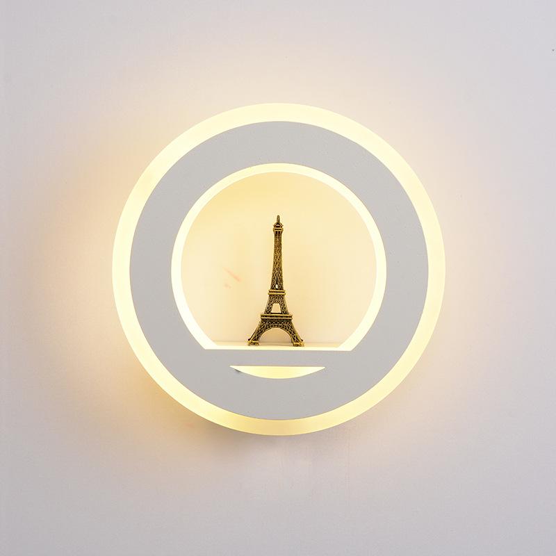 壁灯雪花笑脸儿童房卡通床头壁灯梅花超薄走廊过道床头灯 LED 铁塔