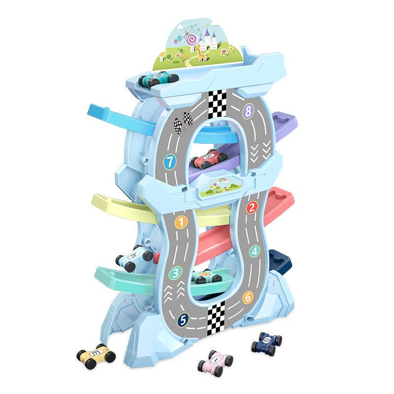 滑翔轨道车小孩益智男孩小汽车节日儿童玩具车宝宝生日礼物2-6岁3