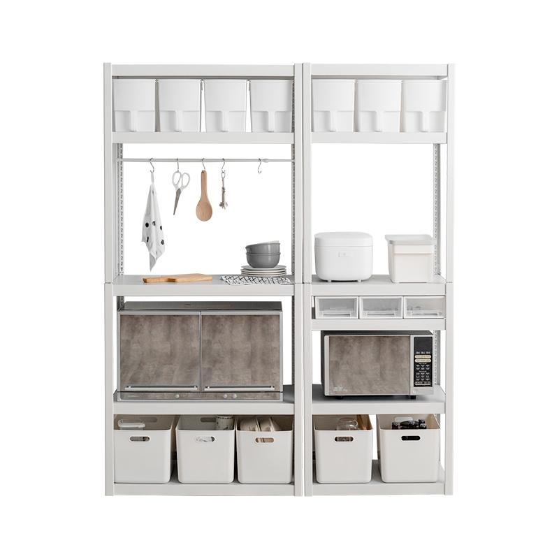 五金少女厨房置物架落地多层微波炉烤箱整理收纳储物架子家电架