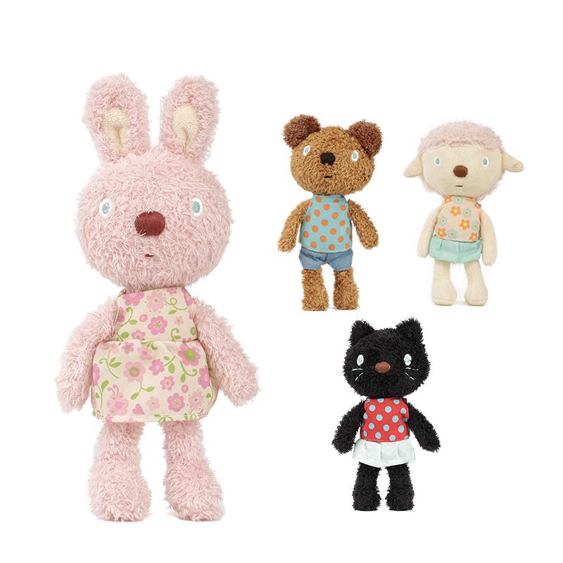 日本兔子毛绒玩具宝宝安抚玩偶女孩睡觉抱枕生日礼物小熊娃娃公仔