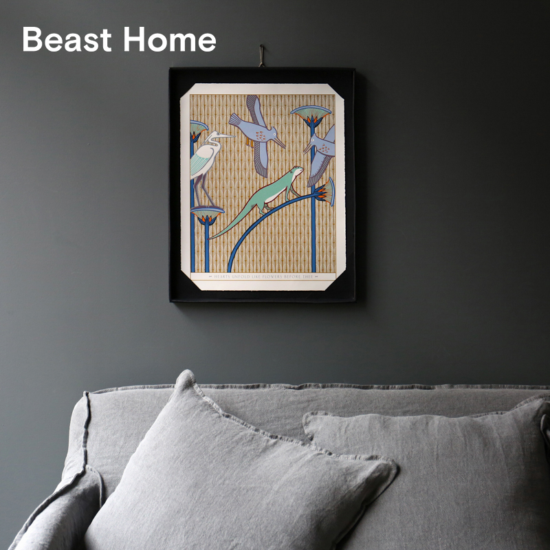THE BEAST/野兽派 手工丝网版画 手工制作质感居家挂画