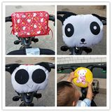Electric motorcycle child seat front anti-collision pad to increase children's seat cartoon thickened battery car head bag