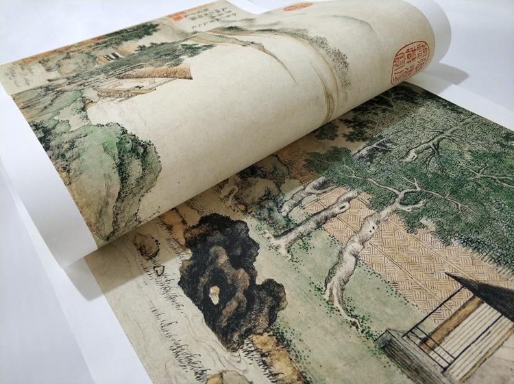 清上睿攜琴訪友圖山水畫國畫真跡藝術微噴古代名畫復制品裝飾畫