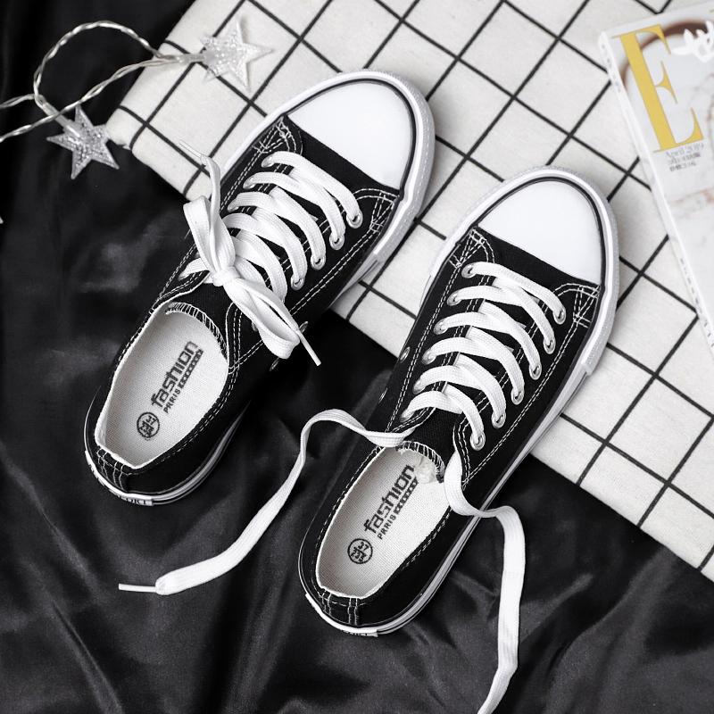 帆布鞋女2021年春秋新款百搭韩版ulzzang夏季ins潮布鞋高帮板鞋子