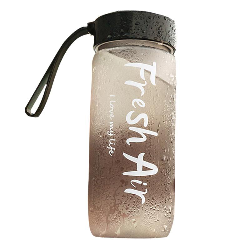 网红水杯大容量杯子女可爱便携户外运动男防摔潮流简约太空塑料杯