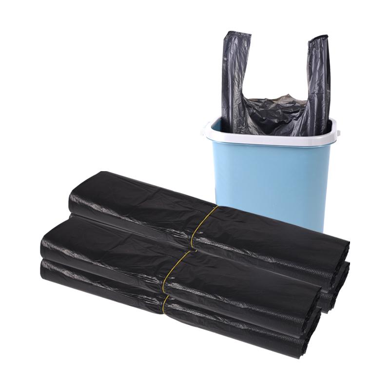 垃圾袋家用黑色加厚手提背心式拉圾袋一次性厨房卫生间拉圾塑料袋 No.4