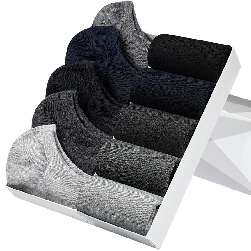 袜子男短袜船袜防臭吸汗短筒棉袜低帮隐形薄款中筒运动商务男士袜