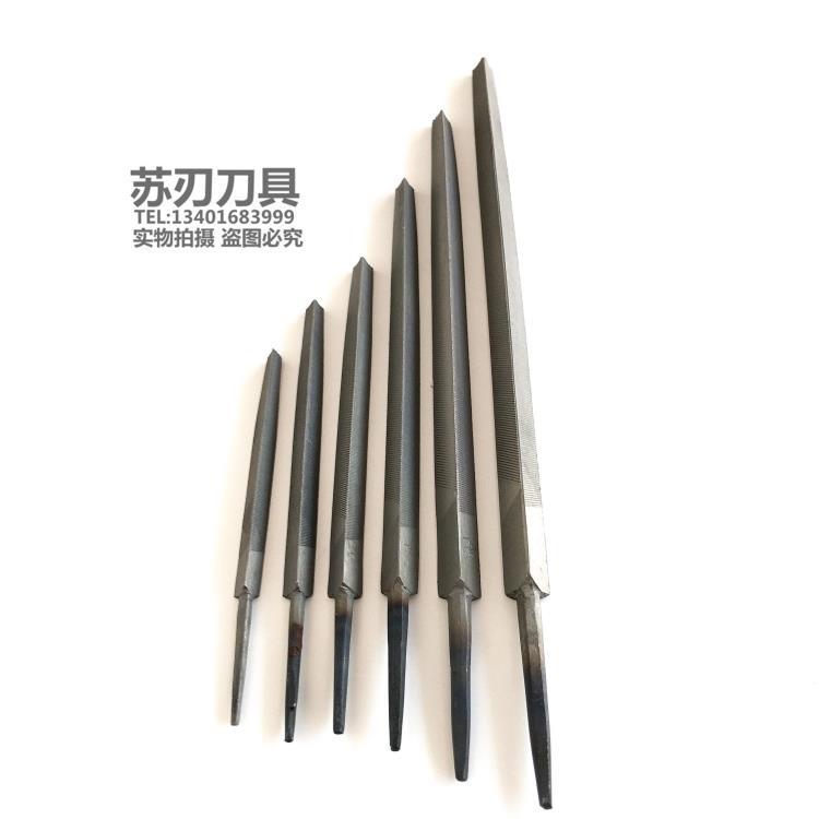 沪工三角锉刀钳工锉刀打磨工具尖头三角锉三边锉平锉粗中细齿10寸