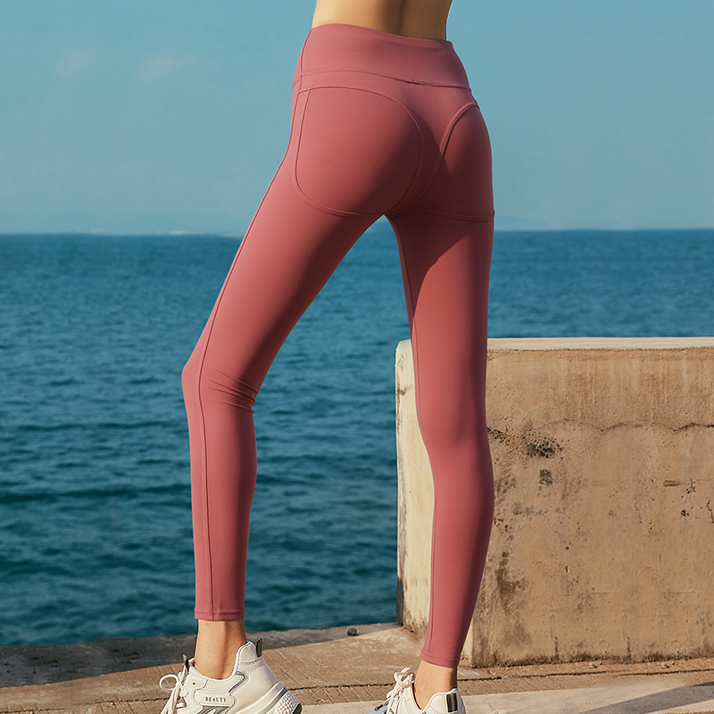 瑜伽裤女外穿高腰紧身提臀秋冬季弹力蜜桃性感显瘦网红运动健身裤
