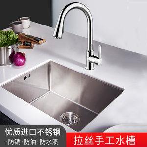 科勒手工水槽斯莱304不锈钢加厚单槽台下厨盆家用洗菜盆碗槽97830