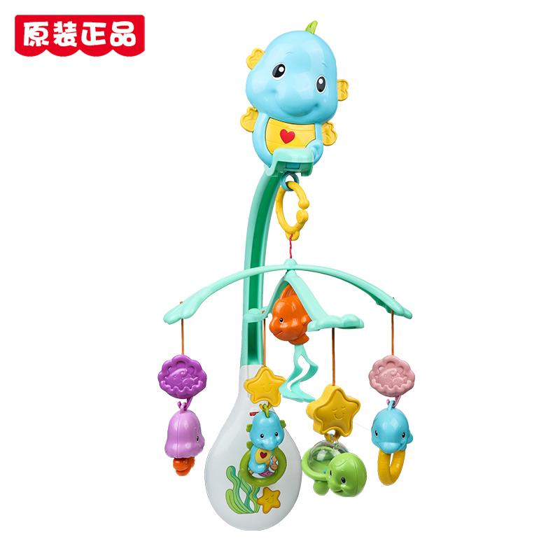费雪海马安抚床铃套装新生婴儿宝宝床头挂件旋转音乐玩具DFP12