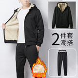 Duanlang legend autumn t-shirt male stream sports and leisure suit men's two-piece suit middle-aged and elderly morning exercise running