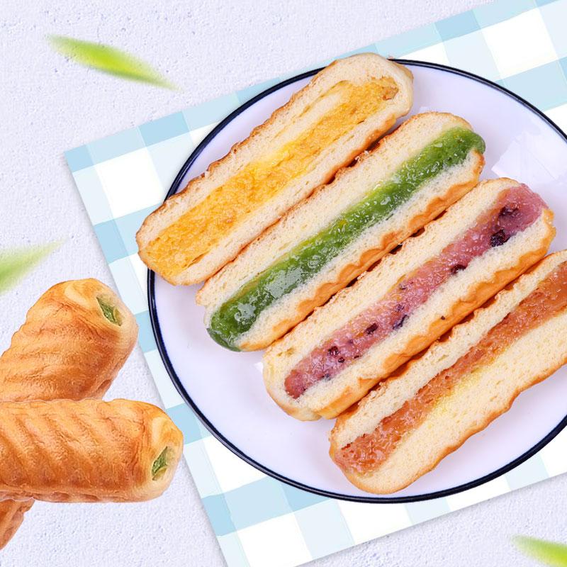 网红夹心手撕面包整箱华夫饼小蛋糕口袋营养早餐食品糕点小吃零食