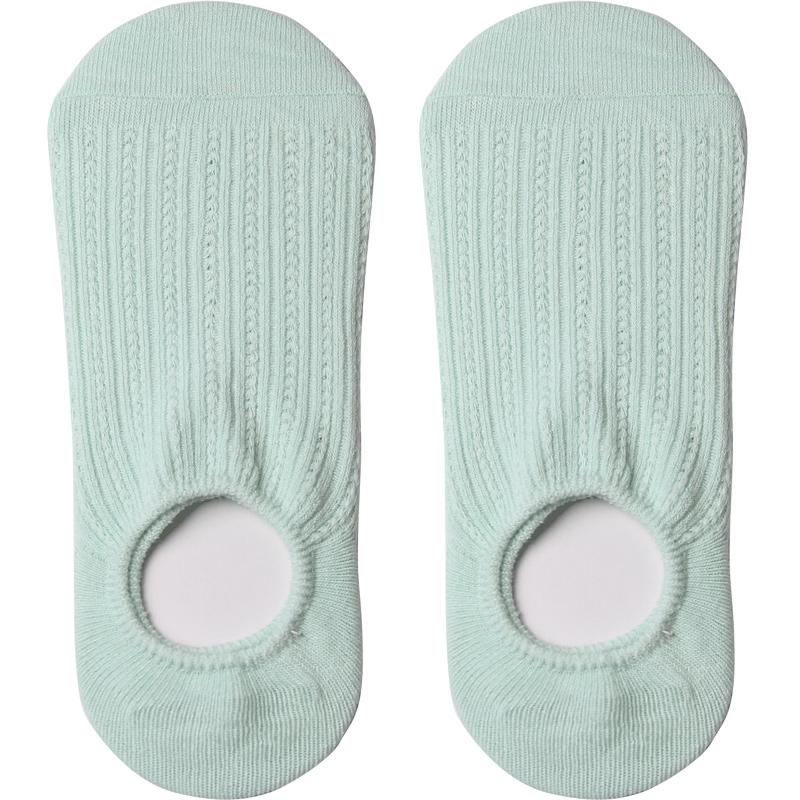 春夏季薄款网眼女袜子低帮浅口船袜非纯棉原宿风隐形袜女硅胶防滑