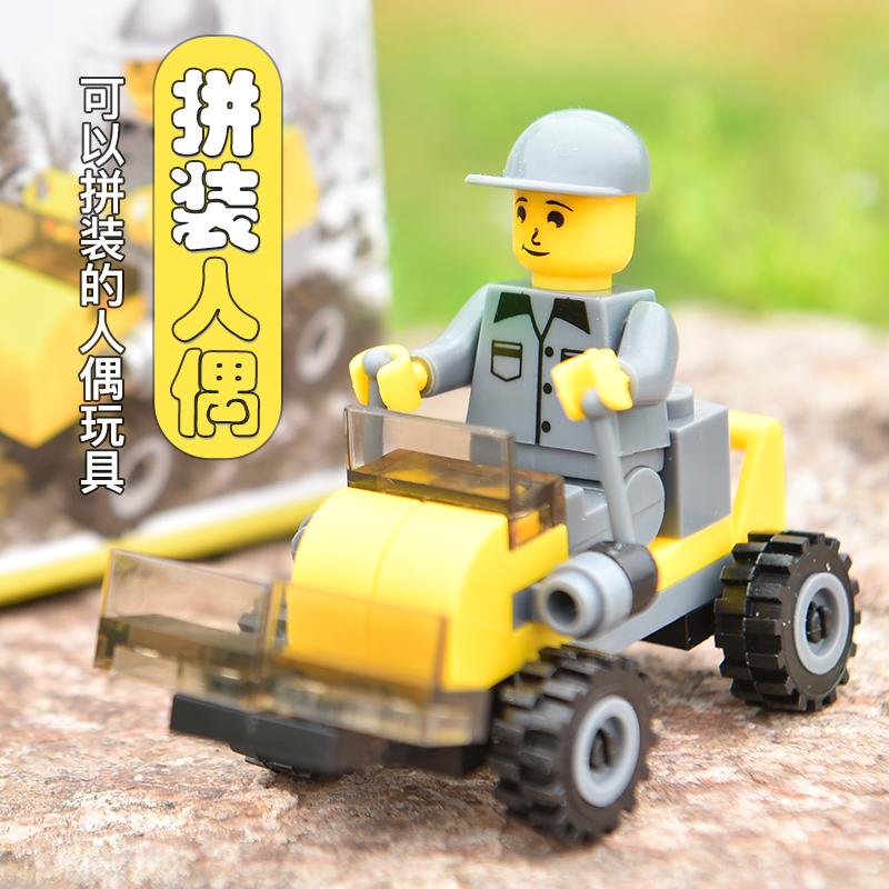 拼装玩具儿童军事模型积木兵人组装小汽车迷彩车宝宝益智生日礼物