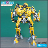 Transformers Bumblebee Gold Flyer Movie Edition 60cm High Three-dimensional Paper Model DIY Hand Decoration