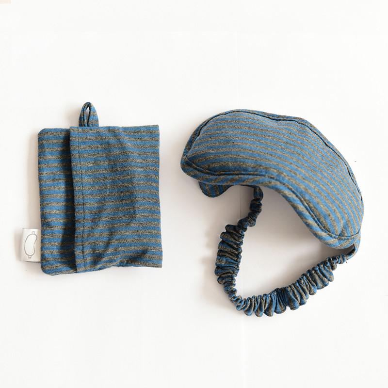 棉天竺眼罩 约9×20cm出差旅行全棉透气遮光眼罩日系简约条纹