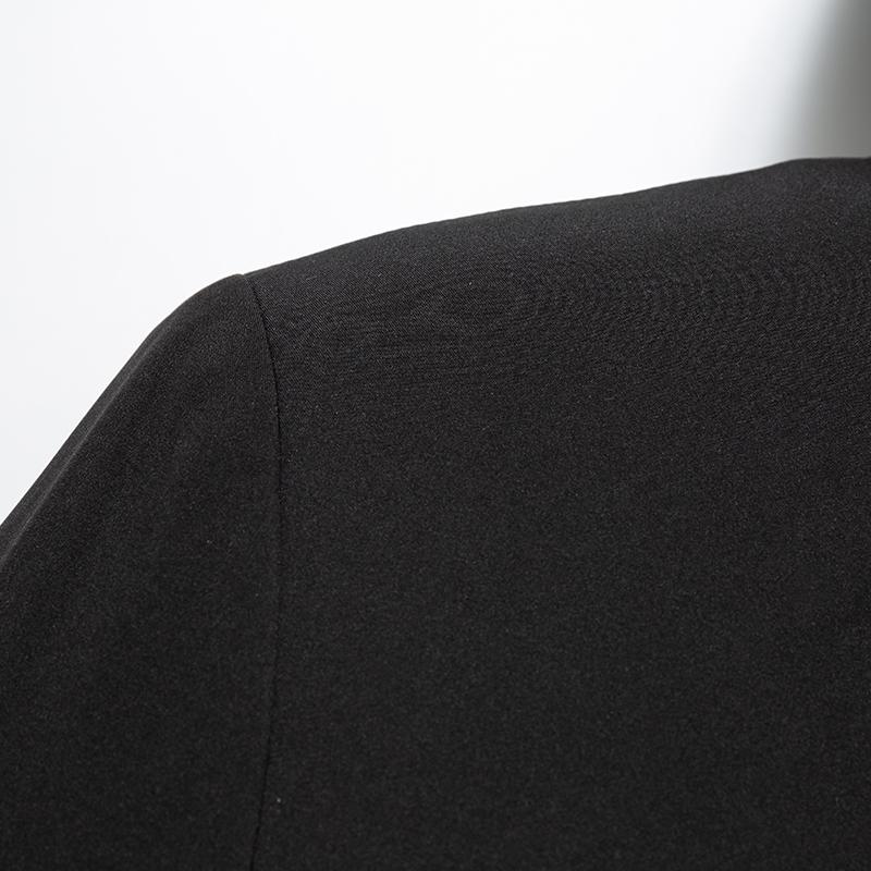 罗蒙秋冬款风衣男中长款英伦商务休闲外套男修身连帽大衣男 Romon