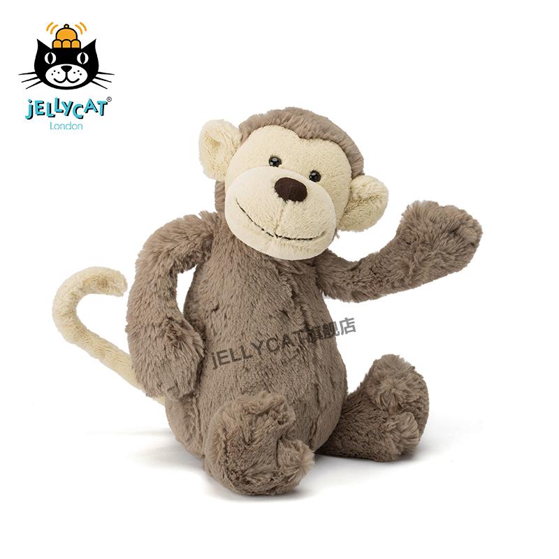 英国jellycat经典害羞系列猴子婴儿毛绒安抚玩具公仔