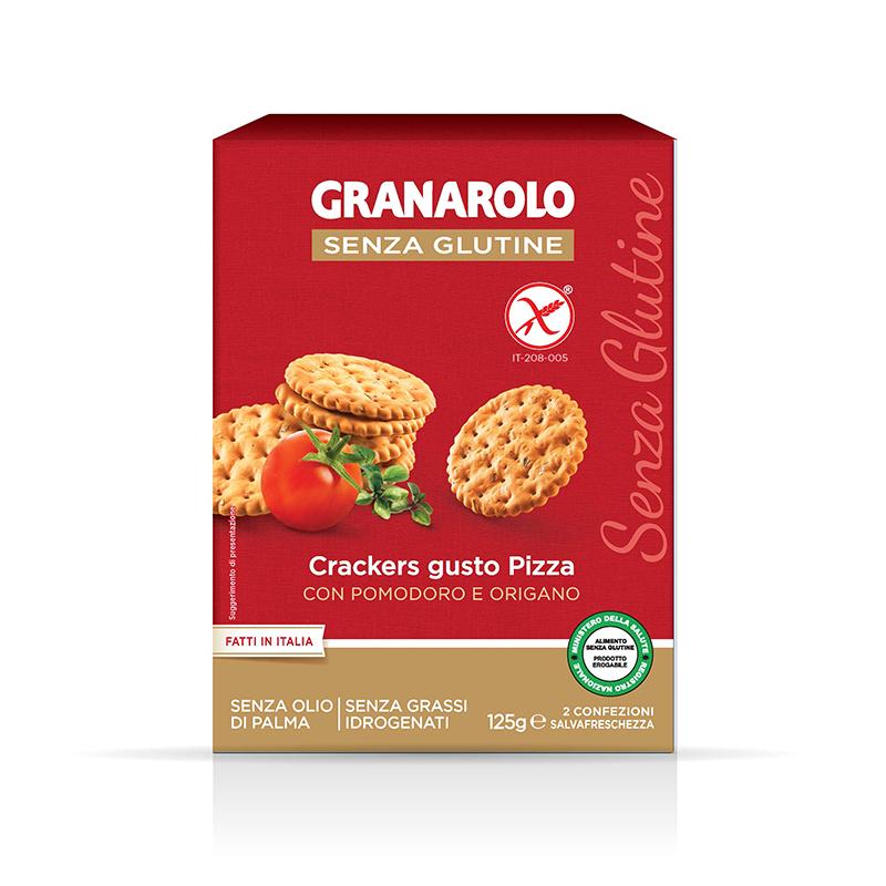 无麸质防过敏曲奇早餐 125g 意大利进口圆形披萨味饼干 Granarolo