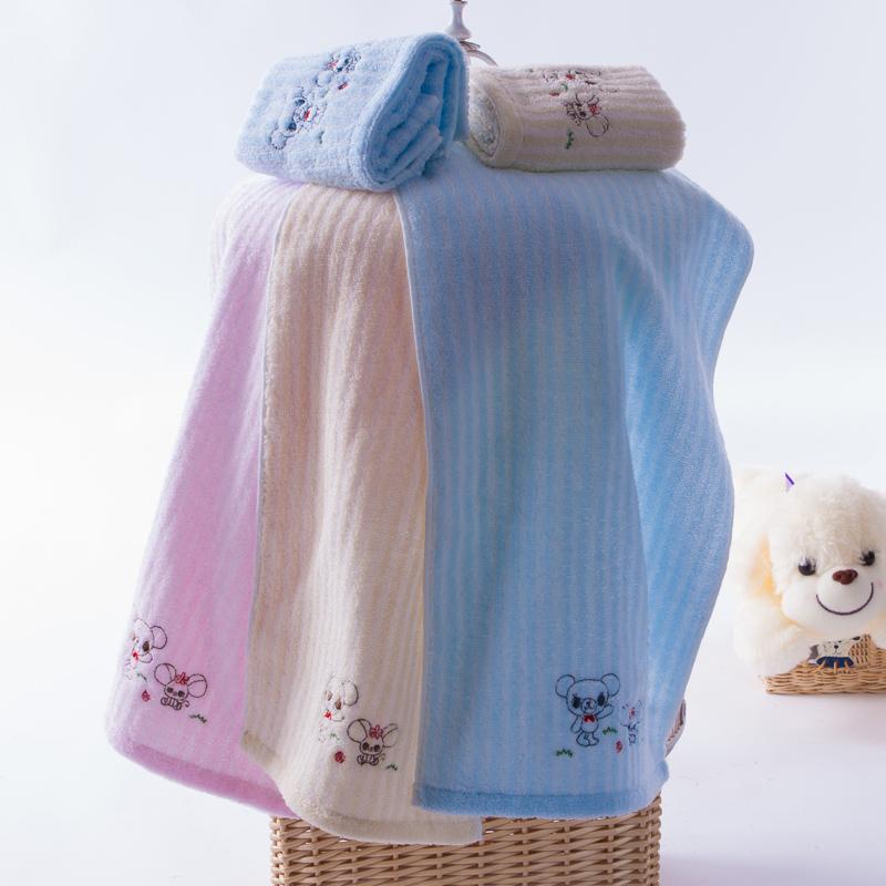金号纯棉小毛巾六条装 无捻纱柔软舒适 卡通可爱吸水 宝宝童巾