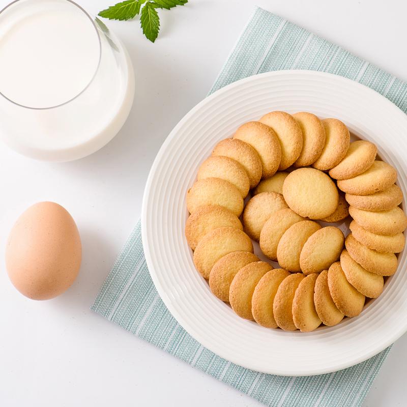 御之味鸡蛋派蛋圆小饼干儿童小馒头饼干3包乳酸菌高钙休闲小零食