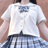 Genuine JK uniform sailor suit Japanese black and white without this Kanto flap Sapporo flap Kansai flap summer suit
