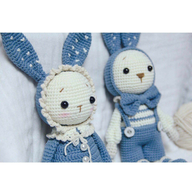 可爱兔子毛绒玩具女小白兔布娃娃生日礼物玩偶 兔子钩针玩偶 Mimi