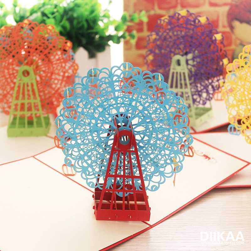Buy 3d Three Dimensional Greeting Cards Autumn Christmas Ferris Wheel Handmade Card Gift Ideas Birthday In Cheap Price On Malibaba