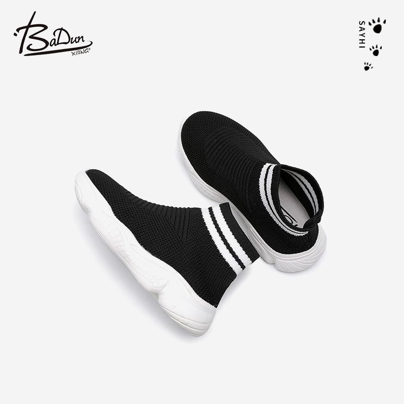 秋季新款儿童低帮飞织网布女童单鞋 2021 男童袜子鞋宝宝弹力运动鞋