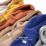 mibi children's scarf girl spring autumn children's cotton knitted wool Korean version of the male baby solid color warm tide