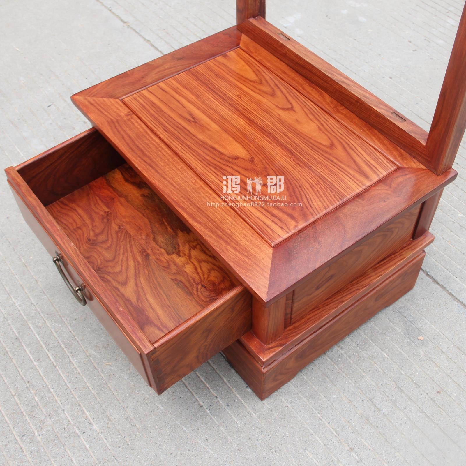 特价仿古中式红木穿衣镜花梨实木多功能置地穿衣镜全身落地试衣镜