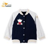 Bunny and little raccoon male and female autumn baseball shirt coat children's knit coat spring and autumn