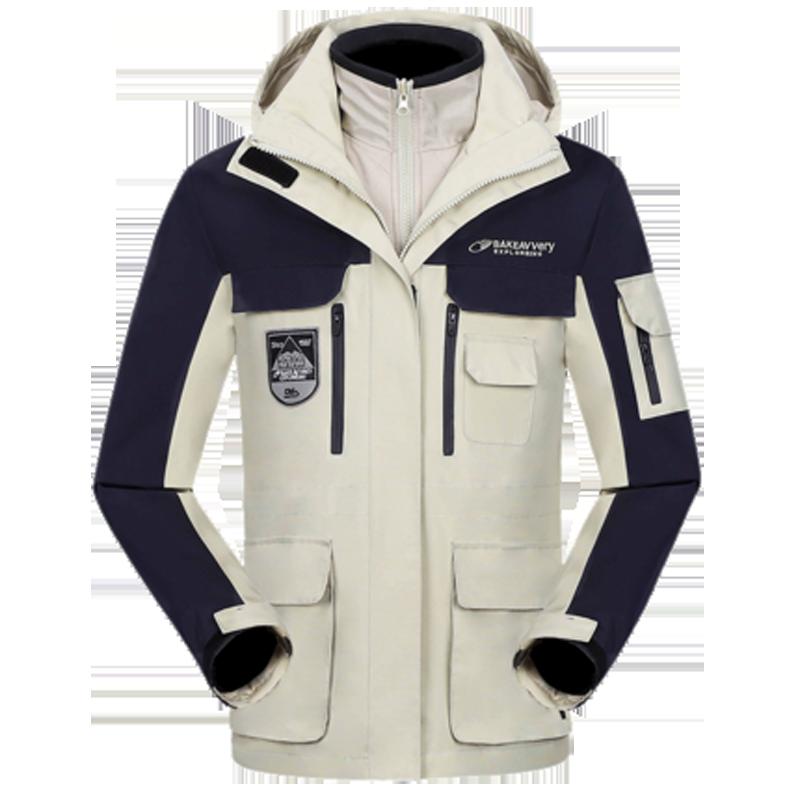 英国亚特户外冲锋衣男女三合一可拆卸两件套防水登山服男防风外套