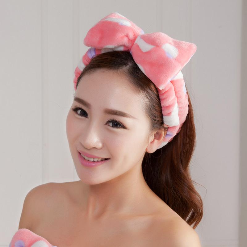 韩国束发带洗脸敷面膜洗漱化妆蝴蝶结可爱女头饰发套发带头箍发箍