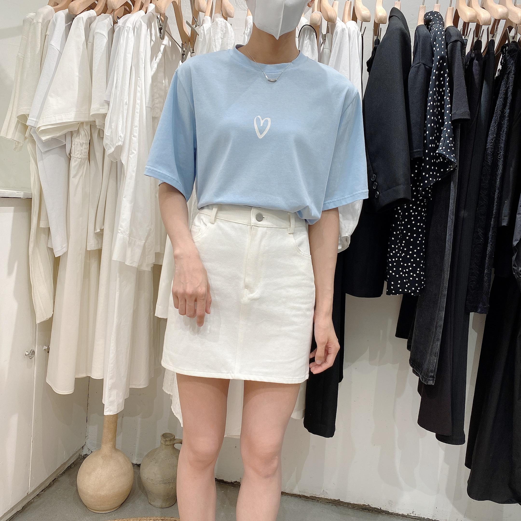 widelia 2020年夏季新款安心小打底短袖女装简约T恤网红款830520