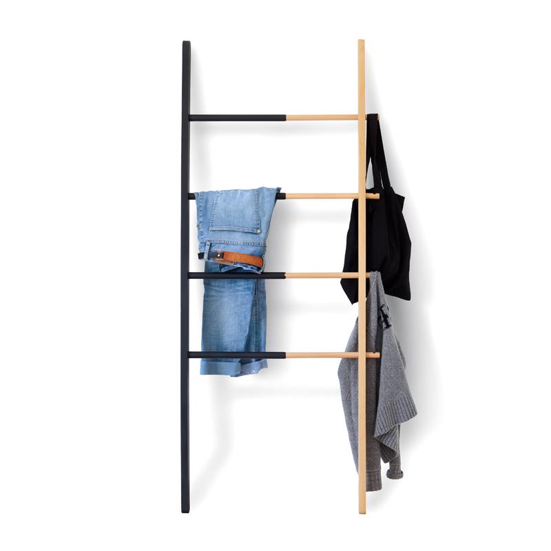 Umbra哈伯阶梯挂架欧式客厅多功能实木衣帽架落地靠墙展示挂衣架