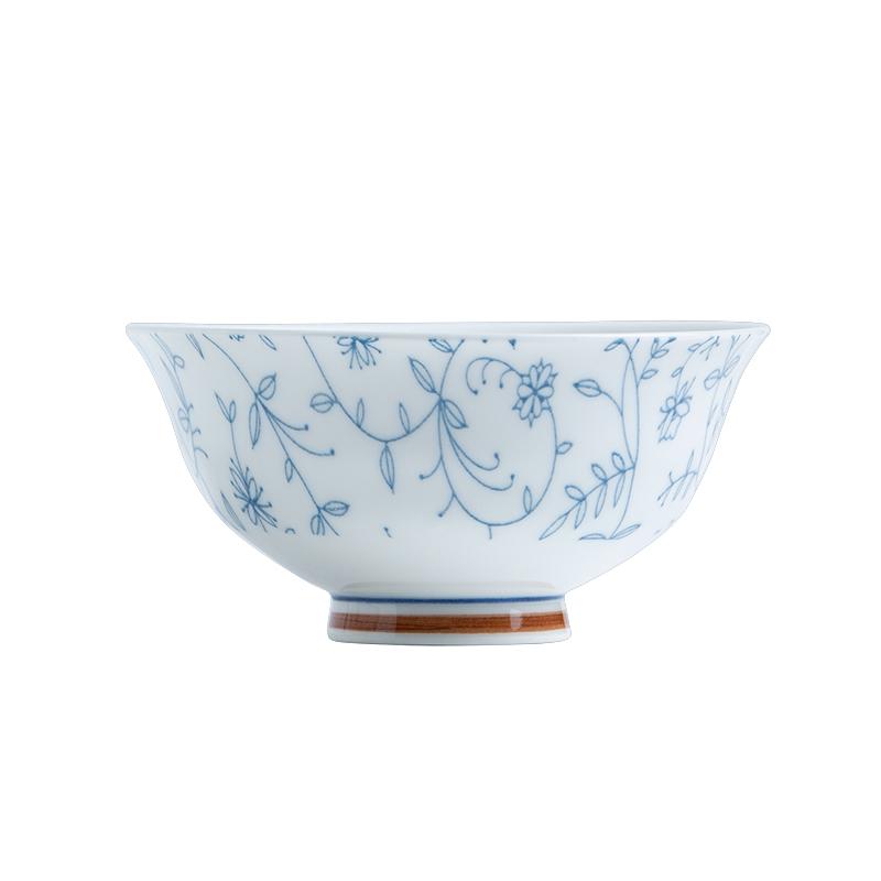 碗碟套装家用日式饭碗釉下彩北欧创意新骨瓷盘景德镇陶瓷餐具套装