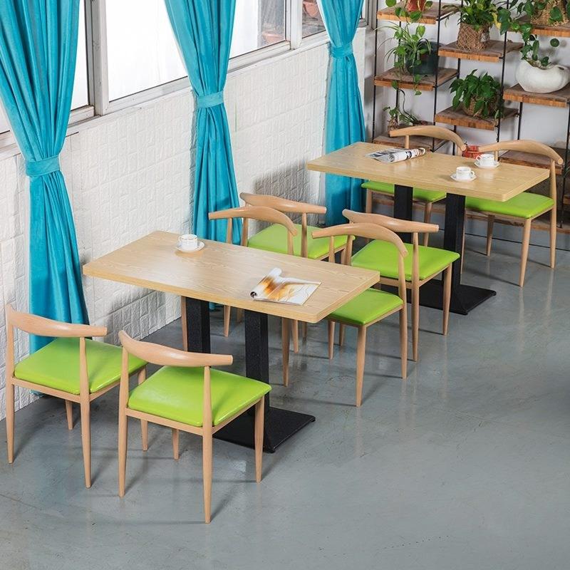 餐饮商用铁艺牛角椅子