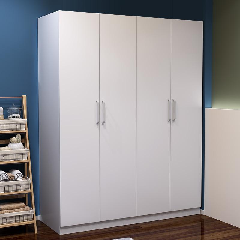 门实木简约现代简易卧室 2 储物移门柜包邮组装儿童大人推拉门衣柜