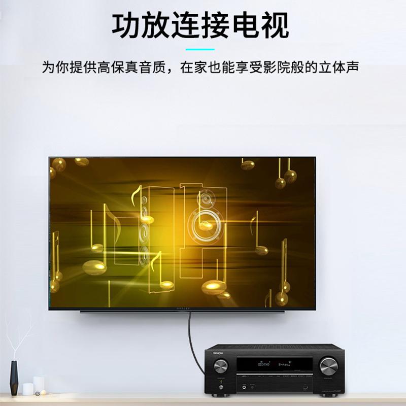 晶华 av线DVD有线电视三对三莲花头视频音频连接线红黄白三色信号