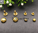 Pure brass mushroom head rivets handmade DIY leather goods leather bags luggage hardware accessories 6/8/10mm rivet orange